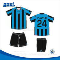 100% polyester make your own custom sublimated soccer uniform