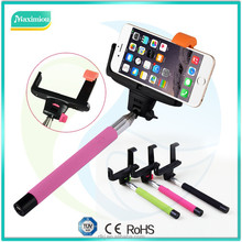 Extendable Wireless smartphone bluetooth selfie stick monopod with zoom Z07-5