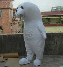 Blanco sea lion costume sea lion traje de la mascota