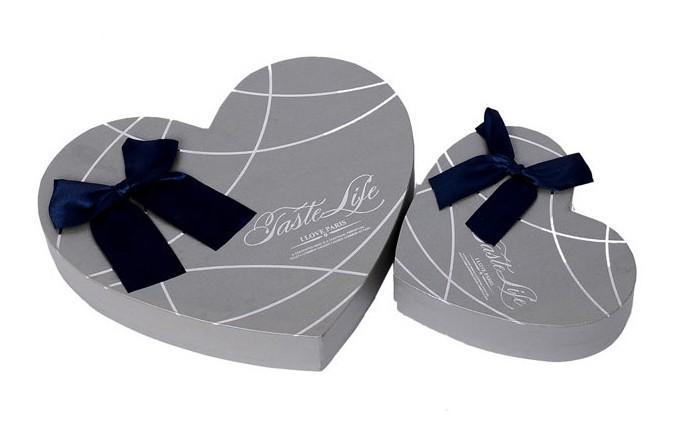 Personnalis Coeur Forme Logo Imprim Gris Argent De Mariage Chocolat Bonbons Bijoux En