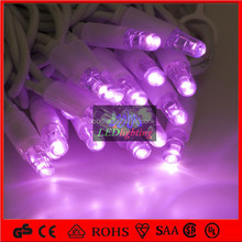 Purple color twinkle led string lighted for outdoor