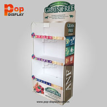 Professional up pos unit standee,8 cells retail cardboard stand,8 pocket pop cardboard display shelf