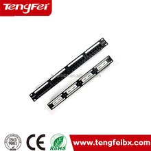 Top quality performance cat5e 1u patch panel 24 port STP/FTP /cat5e from china factory