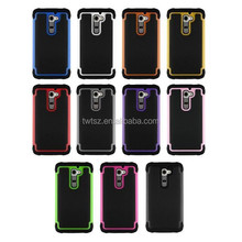 Wholesale 3 in 1 football profile silicone protective case for LG G2