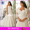 New Designs Sweetheart Neck Lace Appliqued Wedding Dresses For Fat Woman With Jacket 2016