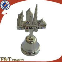 Custom 3D Plaitng gold zinc alloy small bell for high quantity