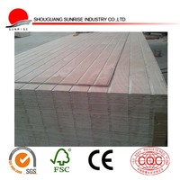 1220x2440 grooved/slotted plywood for decoration