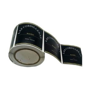 Hava geçirmez kendinden yapışkanlı PE kavanoz etiketler için etiket çıkartmaları, isıya dayanıklı vinil mum etiketleri
