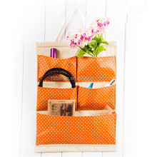 2015 whole sale foldable non woven hanging fabric wall storage bag