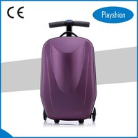 Plastic suitcase covers scooter suitcase for sale