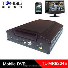 School bus Mobile DVR Supports 3G and GPS 4 channels recording SD card and HDD both supported