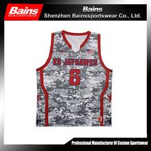 High quality camo basketball uniform/camouflage basketball uniform/custom digital camo basketball uniforms