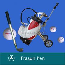 Unique Golf Pen/Golf Pen Set/Golf Type Pen With Golf Bag Holder