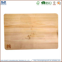 Kitchen using large wooden chopping cutting board