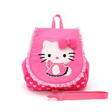 2012 New Fashion Hello Kitty Pink Backpack for Teenage Girls,Shenzhen Best Design School Shoulders Bag with High Standard