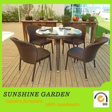 Decorative Plastic Rattan Wicker Small Garden Table And Chairs