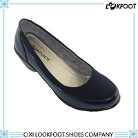 Top quality high heel fiber ang pu stitched ladys pu lady shoes