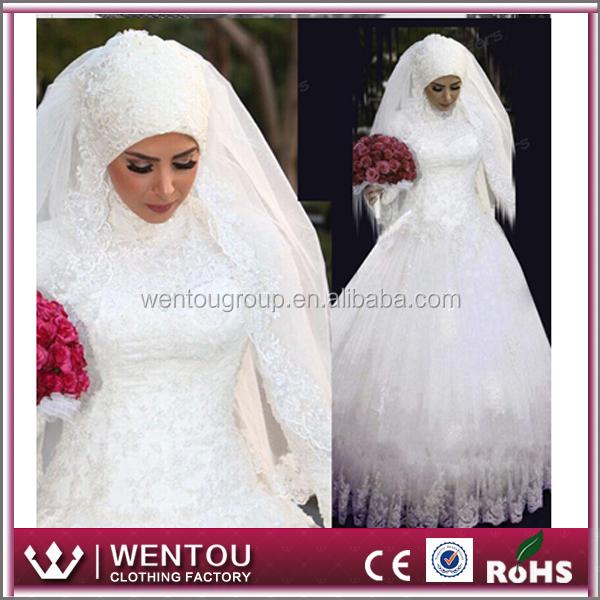 Saudi Arabian Lace Muslim Wedding Dress - Buy Muslim ...