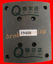 WVA19094 non asbestos truck brake lining , best quality and competitive price high temperature resistant , wear resistant