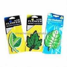 leaf shaped and scented hanging car paper air freshener,paper perfume