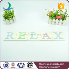 "dividual ""REALAX""Letters brand with ceramic material"