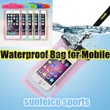 MOQ:10PCS!!! Waterproof Mobile Bag Diving Bag Glowing in the Night~PVC Underwater Bag for Swimming ,Diving
