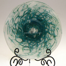 Blown glass plate wall decoration/Art glass wall plates/Hand blown glass wall art