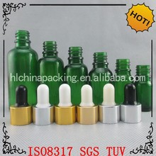 Glass Essential Oil Dropper Bottles Green Colors cosmetic Galss bottles