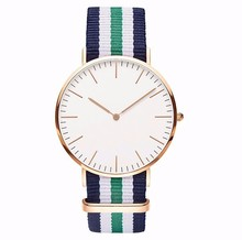 Top Brand!High Quality Daniel Wellington Watches dw women and men Leather nylon Strap / new luxury brand rosegold quartz watch