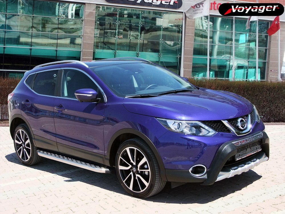 nissan qashqai 2014 accessories buy side steps roof rails front and rear protectors product on. Black Bedroom Furniture Sets. Home Design Ideas