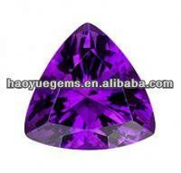 Fashion amethyst trillion cut crystal diamond for Christmas decorations for jewelry