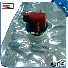 de corte de plástico y parte inferior del sello bolsa que hace la máquina