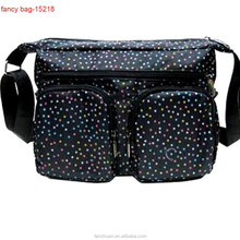 2015 Dots Printed Teenage Girls Travel Sports Satchel