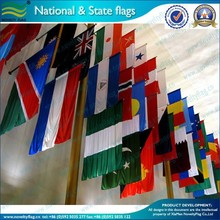 75D woven polyester world national flag with eyelets