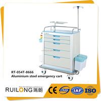 Aluminium Steel Medical Equipment Hospital Dressing Infusion Trolley Cart