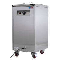 Commercial hotel plate warmer cart, electric food warmer cart with wheels