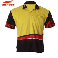 2014 Polyester Sports Polo T shirt Wholesale Sublimation Print