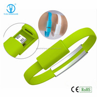 bracelet usb data cable charge sync car battery charger for mobile phone, bracelet USB cable
