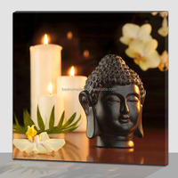 3d buddha wall painting with led lights