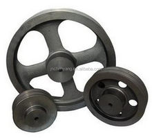 Alibaba china hot sell sand casting flat belt pulley