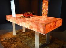 Worktops, table tops made of gems stones