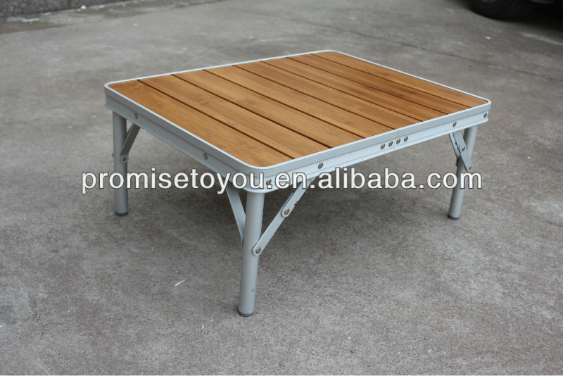 perfect table basse pliante decathlon folding table outdoor camping table bamboo top aluminium. Black Bedroom Furniture Sets. Home Design Ideas
