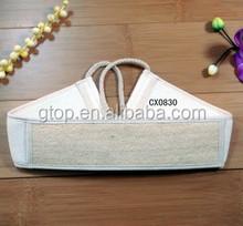 natural loofah bath belt sponge white