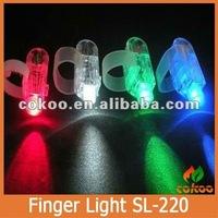 Amazing Hot MenWomens lighting glove Unisex Flash Light Up Night led finger light