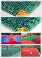 High quality modular tiles Outdoor PP Interlocking Sports floor for Basketball court
