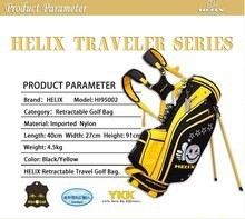 2015 Helix new design stands attachedment golf bag / portable golf bag / Nylon carry golf bag