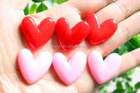 flatback heart shaped cake resin foods for phone decoration