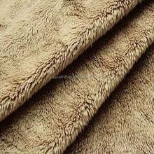 Super Soft short pile fleece fabric shoes fabric