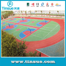 Portable outdoor basketball court flooring