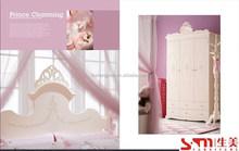 white color high quality kids princess girls wardrobe